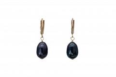 Melno pērļu auskari