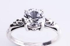 Safīra (sintētiskā) gredzens