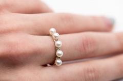 Gredzens ar 2 pērlēm