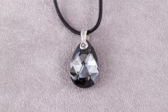 Swarovski Silver Night Pear
