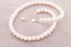 Baltās pērles- kaklarota