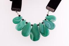 Zaļais ahāts - kaklarota