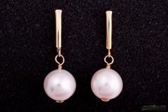 Apaļās pērles, auskari